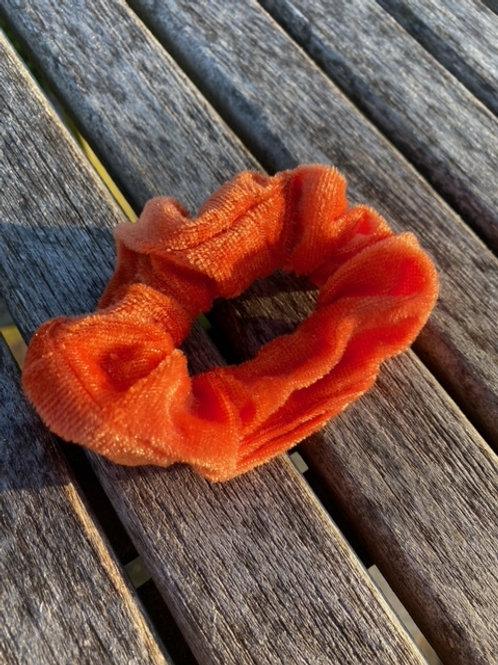 tiger orange scrunchie