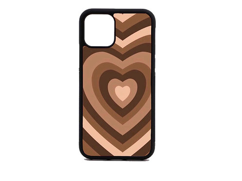 brown heart phone case