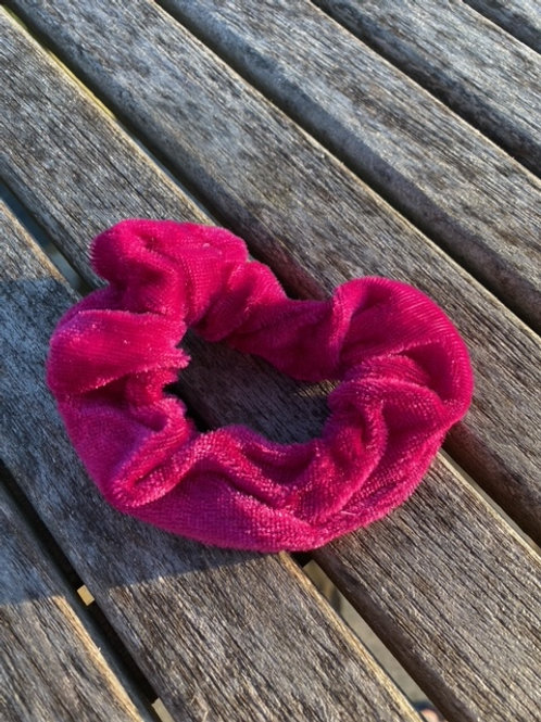 rosey red  scrunchie