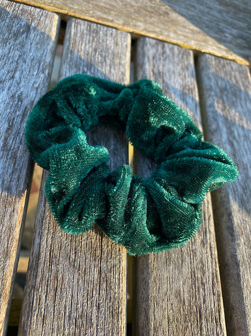 vintage green  scrunchie