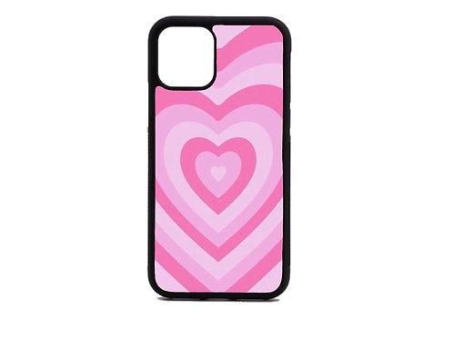 pink heart phone case