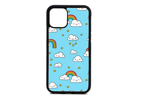 rainbow on clouds phone case