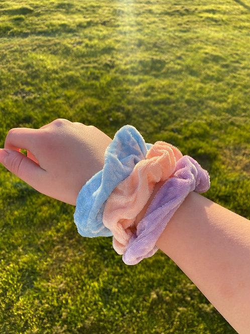 pastel punch 3 scrunchie set