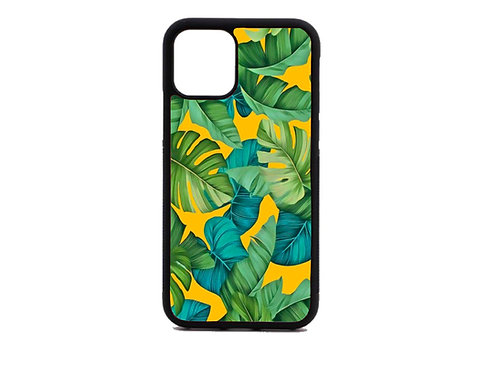 Tropical palm leaves phone case
