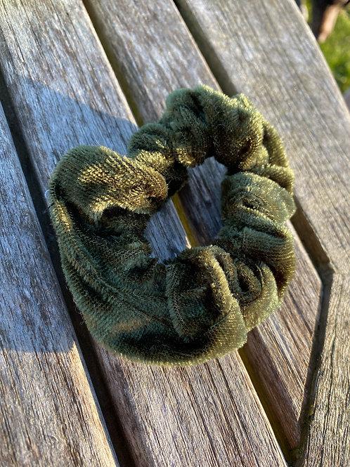 khaki scrunchie
