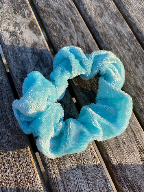 baby blue  scrunchie