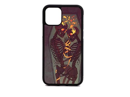 fire coffin skull phone case