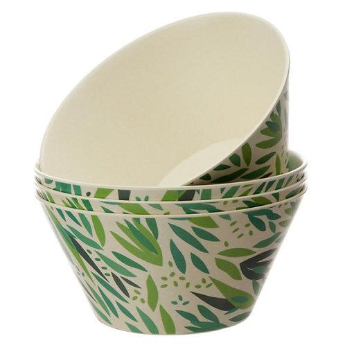 set of 4 bamboo bowls