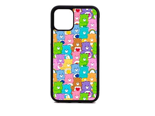 Rainbow Carebear phone case (black)