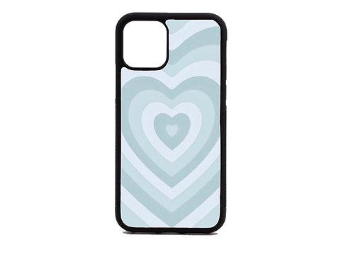 baby blue heart phone case