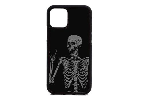 rock n roll skeleton phone case