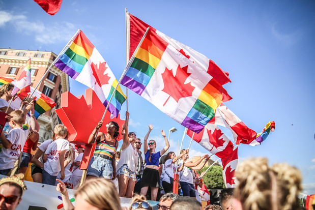 Canadians celebrate Pride in Italy
