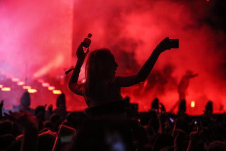 Sillouette of concert-goer