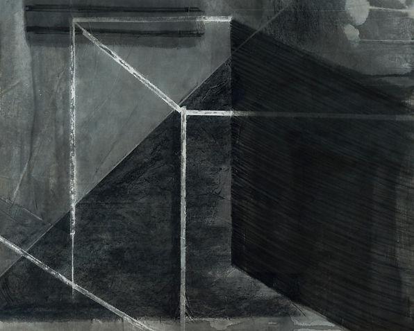 이연아, 인공 햇빛1, 무제1, 한지에 먹, 목탄, 104.5 x 84,