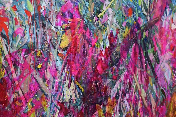 버려진 화환  mixed media on canvas  130 cm x