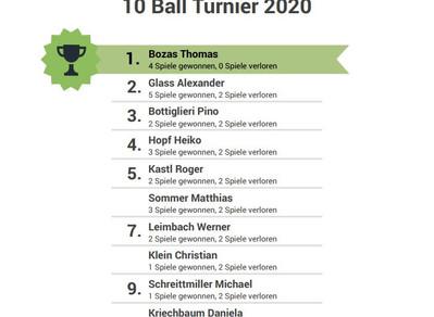 10 Ball Vereinsmeisterschaft