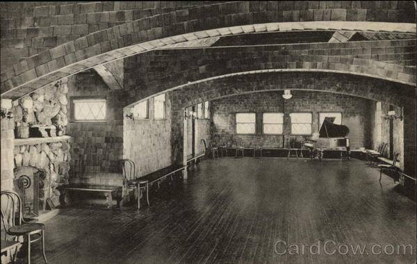 NICHEWAUG INN Music Room Postcard