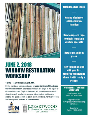 DIY Window Restoration Workshop: June 2