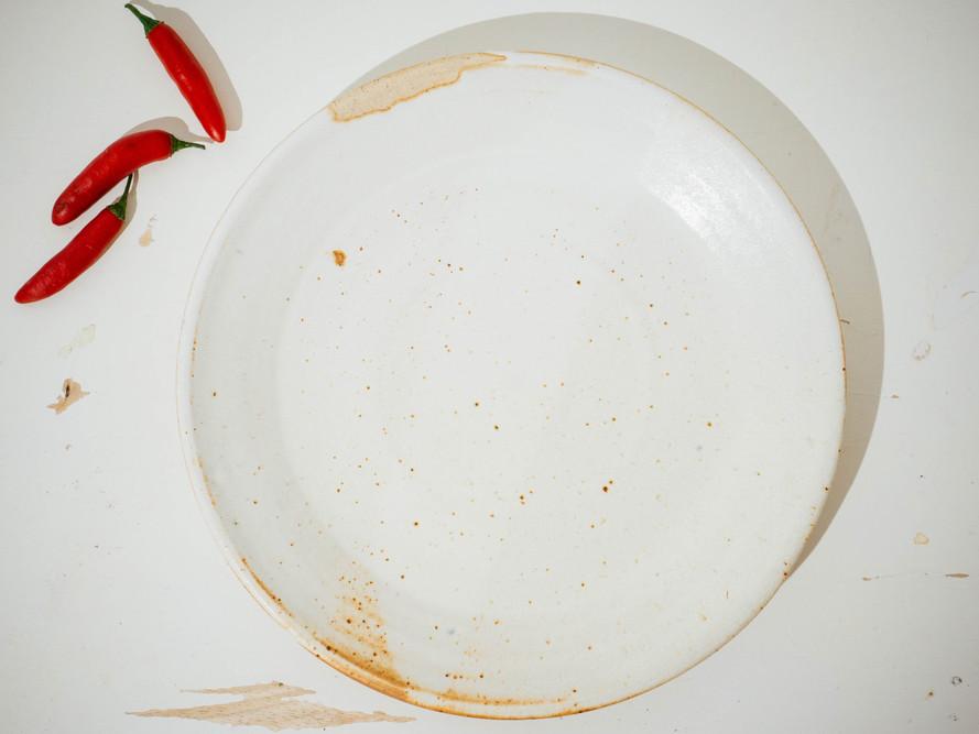 White Salt Plate