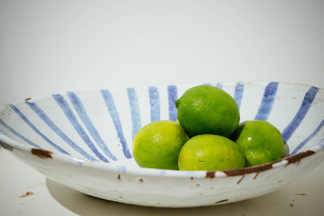 Stripe Serving Bowl