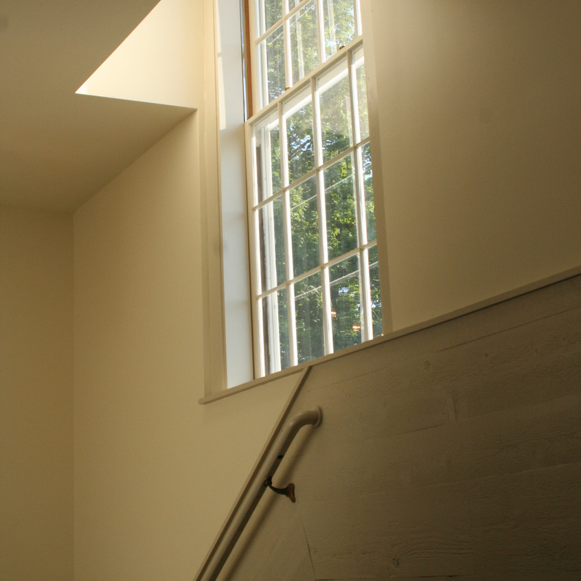 Whately Town Hall - stair and window