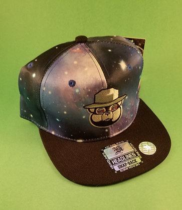Spaced Smokey the Bear Snap-back hats