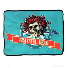 """Grateful Dead """"Skull and Roses"""" Fleece Blanket"""
