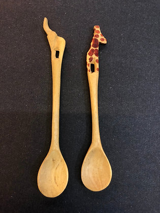 Wooden Animal Spoons