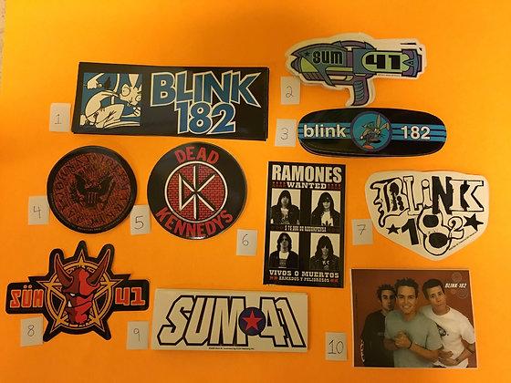 Punk Band Stickers