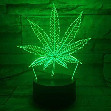 3D Pot Leaf Light