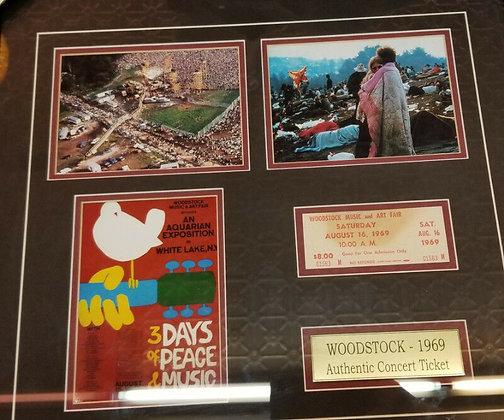 Woodstock Framed Commemorative