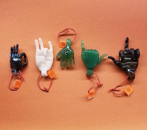 """Eka Glass """"hand"""" pendant"""