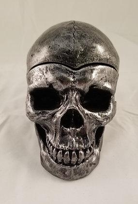 Large enamel skull ashtray