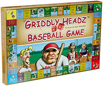 Griddly Headz Baseball Board Game