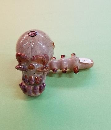 Red Eye Glass Skull Pipe