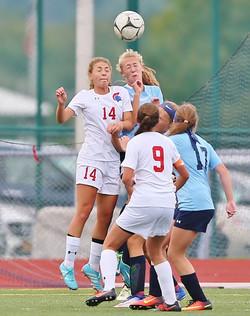 NH Girls Soccer vs. J-D  and CVA