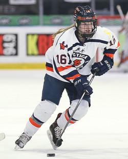 Utica College Women's Hockey Action 2019