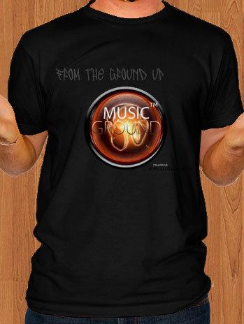 Music Ground T-Shirt Black