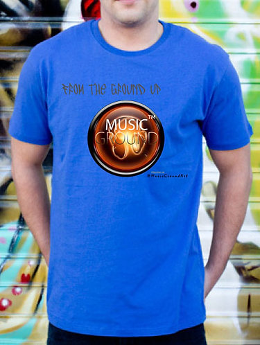 Music Ground T-Shirt Blue