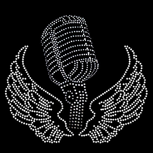 Bling Microphone w/ Wings