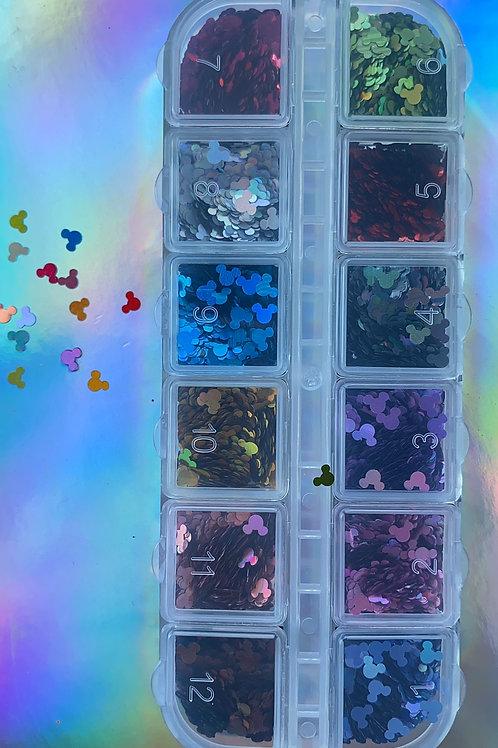 Mickey Shaped Glitter Kit
