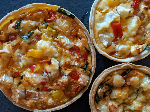 Quiche - roasted vegetables and feta