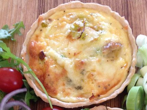 Quiche - three cheese and leek