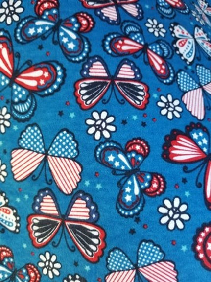 Red & Blue Butterfly Face Mask