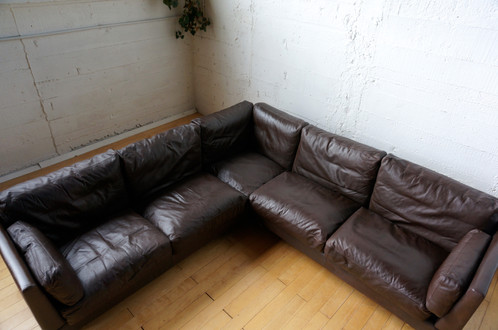 vintage danish leather sofa vintage danish corner sofa by erik jorgensen sold industriantik