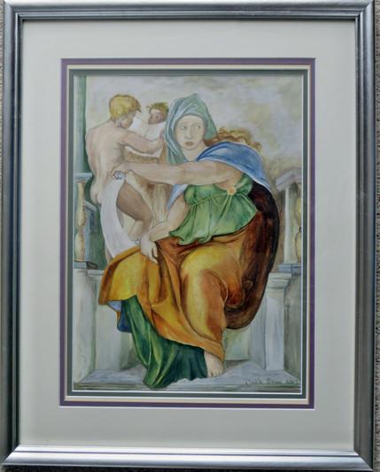 My Interpretation Of The Sybils Of Thye Sistine Chapel by Michelangelo