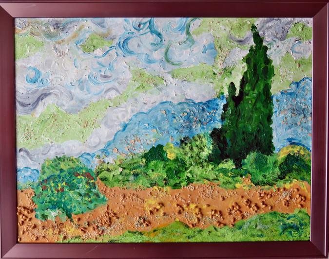 Cypress Trees by Van Gogh