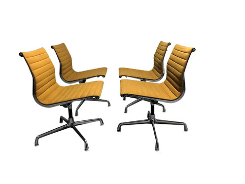 Vintage eames desk chair EA108 for herman miller, yellow, 1970s