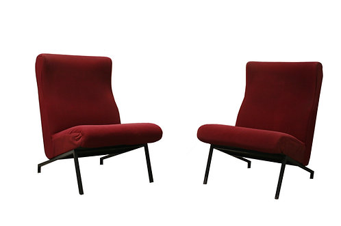 Miami easychair by P. Guariche for Meurop, 1950s, set of two