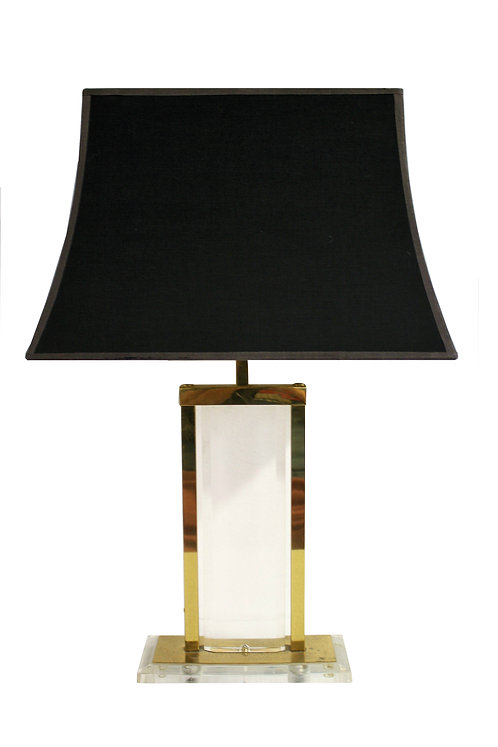 Brass and lucite table lamp, 1970s